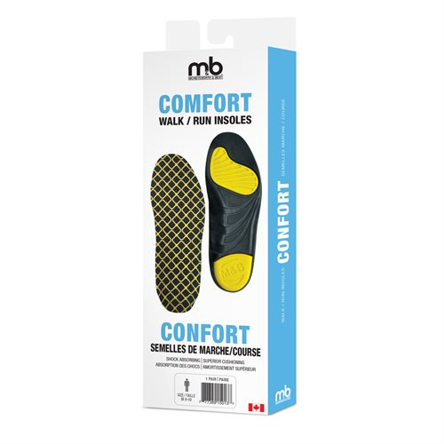 COMFORT WALK / RUN INSOLES - ASSORTED SIZES